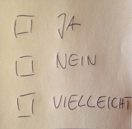 Ankreuz-Zettel