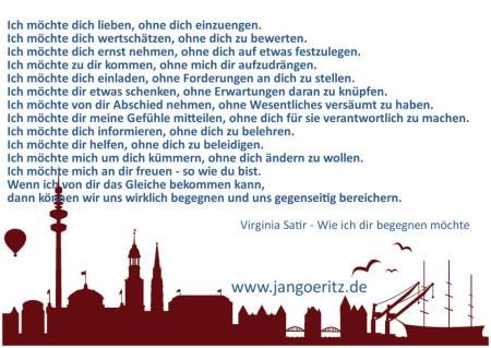 Virginia Satir - Wie ich dir begegnen möchte - Jan Göritz - Heilpraktiker für Psychotherapie, Psychologischer Berater, Psychotherapeut (HpG) in Hamburg
